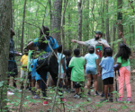 Ranger Josh Gray conducts a program at Clemmons Educational State Forest