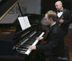 Pianist Christopher Tavernier with flutist Matthew Hanna