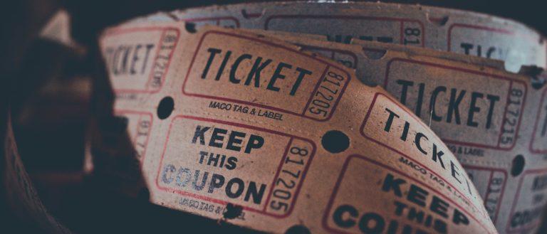 A roll of raffle tickets.